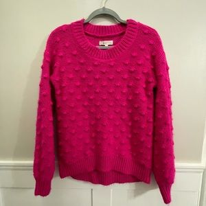 Lou & Grey for LOFT hot pink bobble sweater